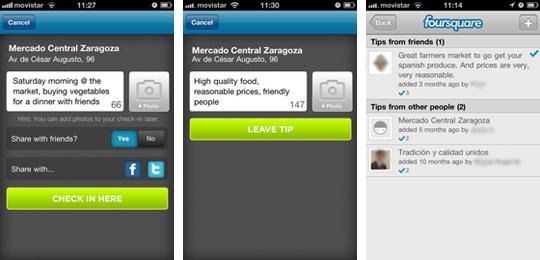 Wie man auf Foursquare eincheckt, kommentiert und Tipps gibt