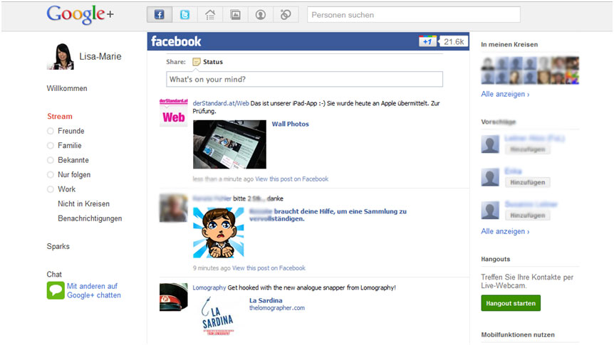 Google+Facebook Add-On