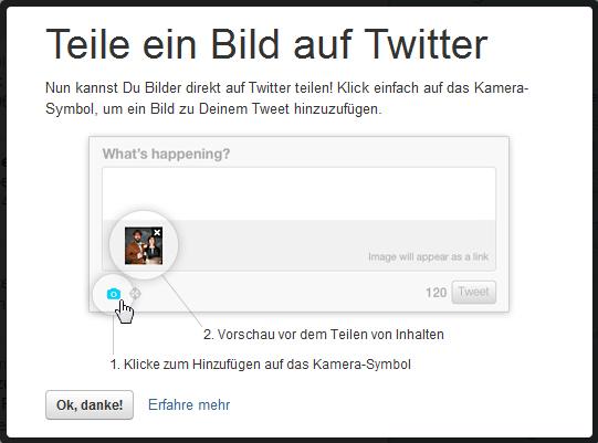 Twitter-Fotoupload