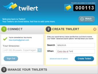 gratis Social Media Monitoring Tool Twilert