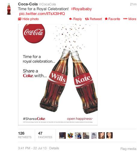Coca Cola Royal Baby