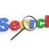 Lupe mit dem englischen Wort search