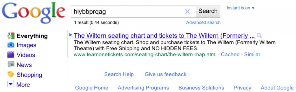 """Suchergebnis von Google für den Begriff """"hiybbprqag"""""""