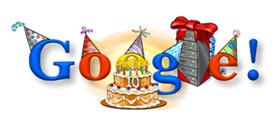 27. September 2008 - Google's 10. Geburtstag