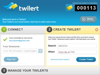 gratis Social Media Monitoring Tool Twilert