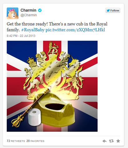 Charmin Twitter Tweet Royal Baby